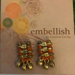 Brass & Orange earrings NWT